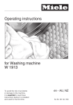 Operating instructions for Washing machine W 1913