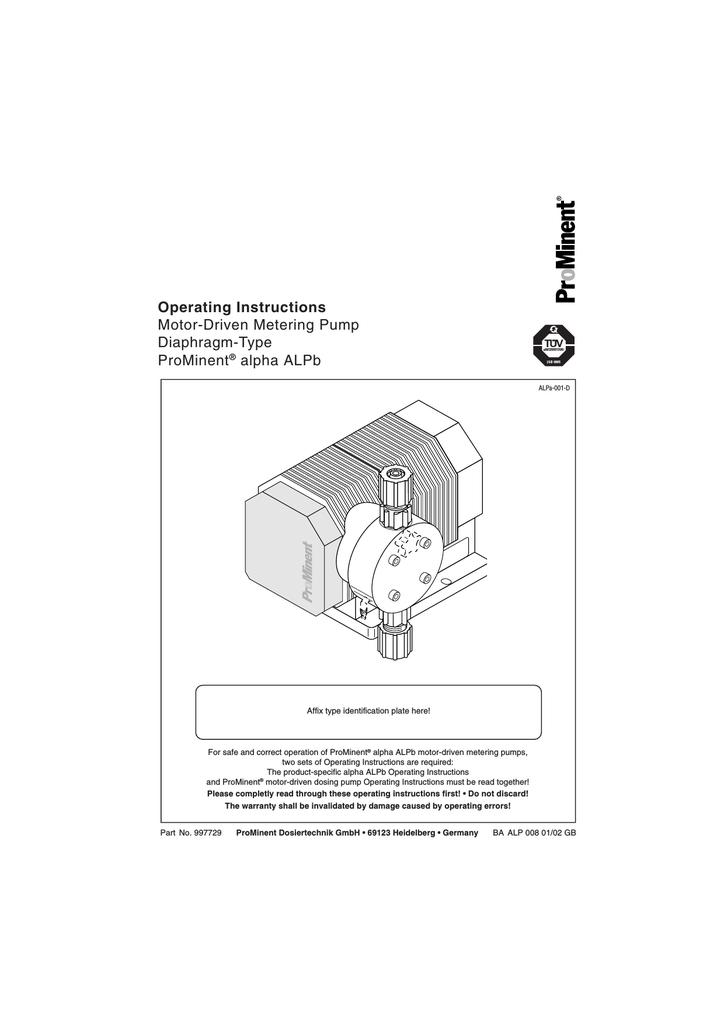Operating Instructions ProMinent® alpha ALPb