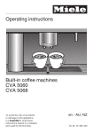 Operating instructions Built-in coffee machines CVA