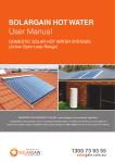 User Manual - Same Day Hot Water