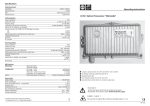 Operating instructions LR 60 Optical Transceiver