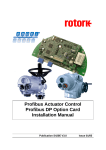 Profibus Actuator Control Profibus DP Option Card Installation Manual
