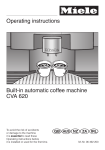 Operating instructions Built-in automatic coffee machine CVA 620