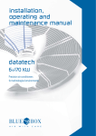 installation, operating and maintenance manual datatech
