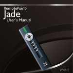 RemotePoint Jade Presentation Remote User's Guide
