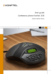User guide Conference phone Konftel 200
