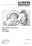 Operating Instructions Washer PW 5064