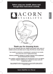 Acorn Stailifts - User Manual