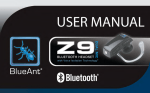 BlueAnt Z9 Owner's Manual