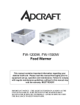 Admiral Craft FW-1200W Owner's Manual