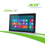 Acer W701 Owner's Manual