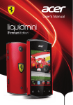 Acer Liquid mini Ferrari Owner's Manual