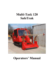 Multi-Task 120 SafeTrak Operators' Manual