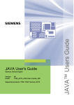 JAVA User's Guide