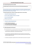 The Incident Reporting Tool User Guide
