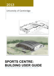 Sports Centre: building user guide