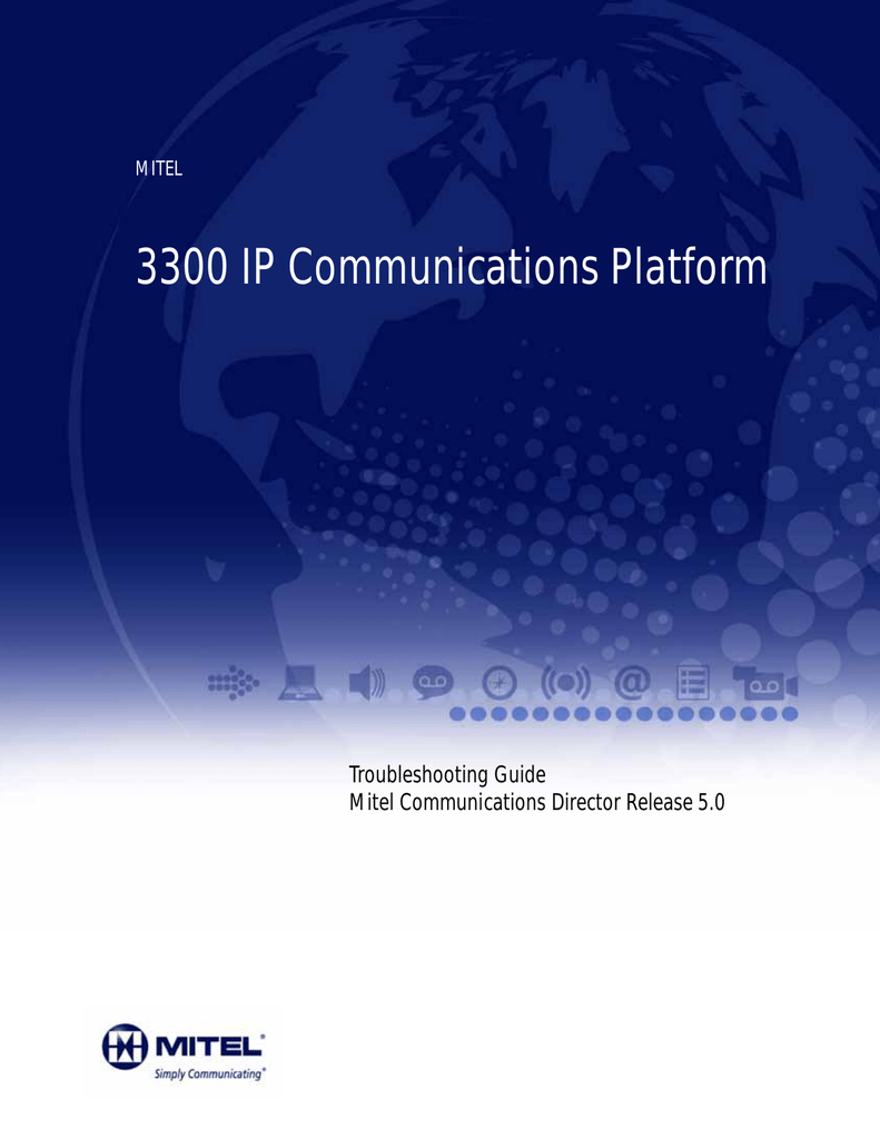 3300 ICP Troubleshooting Guide (MCD 5 0)