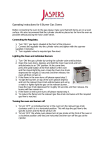 Operating Instructions for 6 Burner Gas Ovens