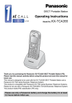 Panasonic KX-TCA355 User Guide