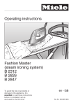 Operating instructions Fashion Master (steam ironing system