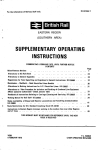SUPPLEMENTARY OPERATING INSTRUCTIONS