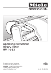 Operating instructions Rotary ironer HM 16-83