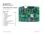 The MKARS 80 QRP 80M transceiver Construction and user manual