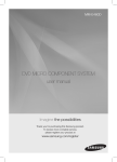 DVD MICRO COMPONENT SYSTEM user manual
