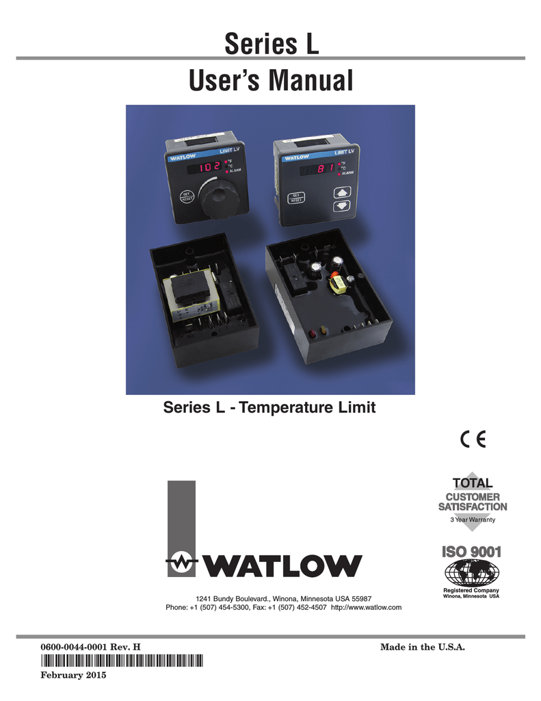User's Manual Series L on