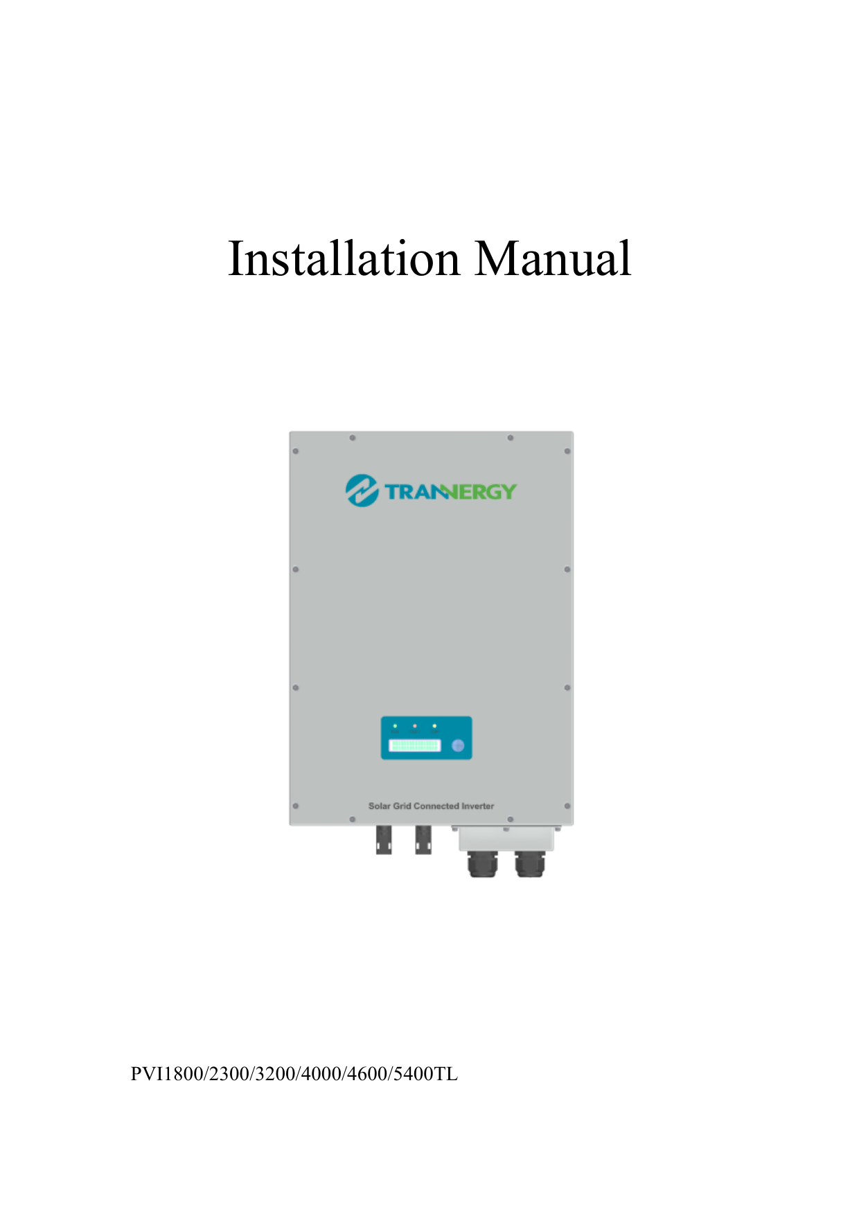 Trannergy User Manual