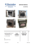 SERVICE MANUAL COOKING