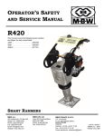 OPERATOR'S SAFETY AND SERVICE MANUAL