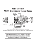 Water Specialist WS1TT Drawings and Service Manual