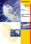 BL20 – USER MANUAL ECO-GATEWAY FOR PROFIBUS-DP