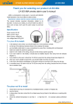 LX-SO-98A smoke alarm user's manual Thank you for