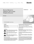 Service Manual for Hydraulic Vane Pumps
