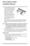 Rain Collector Heater Installation Manual