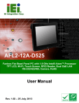 AFL2-12A-D525 Panel PC User Manual