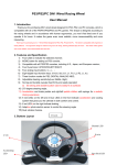 PS3/PS2/PC 3IN1 Wired Racing Wheel User Manual