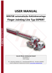 USER MANUAL - Winter Holztechnik