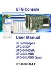 UFG Console User Manual