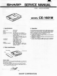 SERVICE MANUAL - sharp pc-1600
