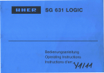 Service Manual Uher SG 631, englisch