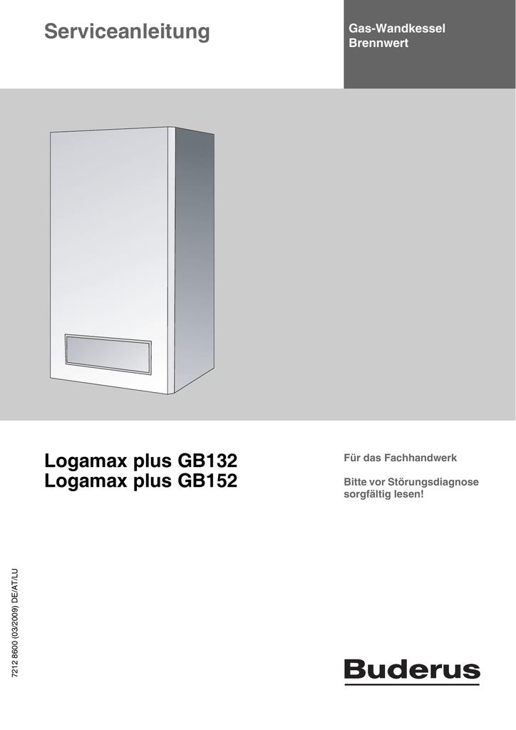 Service Manual Logamax plus GB132 und GB152 - DE
