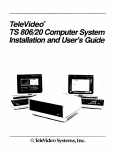 TeleVideo@ . Installation and User's Guide