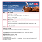 Agenda SCALCOM Troubleshooting