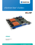 Kontron User's Guide «