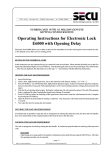 Operating Instructions for Electronic Lock E6000 with Opening Delay