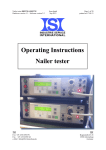 Operating Instructions Nailer tester