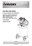 Husky C301H Use and Care Manual